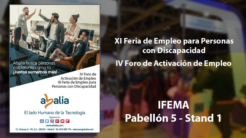 Abalia en la XI Feria de Empleo para Personas con Discapacidad y IV Foro de Activación de Empleo de la Comunidad de Madrid