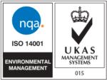 Abalia - Certificado NQA-UKAS ISO-14001-2015 01 de Febrero de 2019